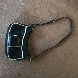 Gianni Bernini Black Adjustable Shoulder Bag